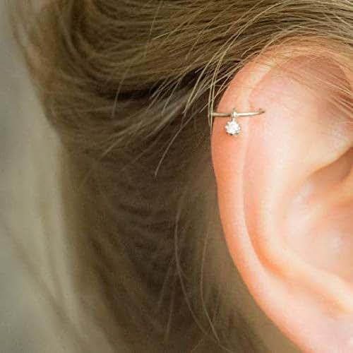 Amazon.com: CZ Helix Piercing Tiny Helix Earring Hoop