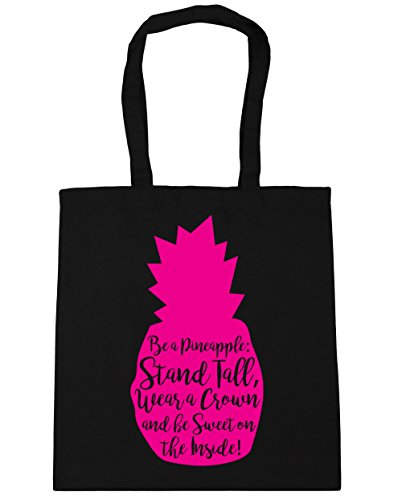 Beach Pineapple litres Sweet Be HippoWarehouse Crown On Be Wear a A Stand Gym x38cm Tall Black 10 Shopping The Inside Tote and 42cm Bag qqETBv