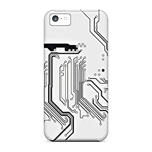 Durable Defender Case For Iphone 5c Tpu Cover(mainboard Circuit)