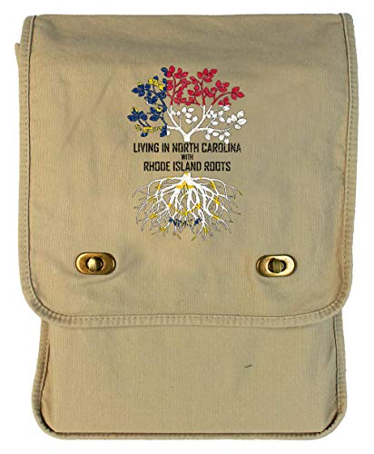 (Tenacitee Living In North Carolina with Rhode Island Roots Putty Canvas Field Bag )