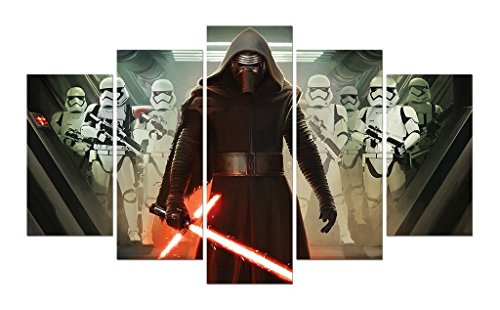 JESC Star Wars Kylo Ren A First Order Stormtrooper Movie Painting Film Picture Children RoomDecor Wall Art Print on Canvas Painting Framed Ready to Hang