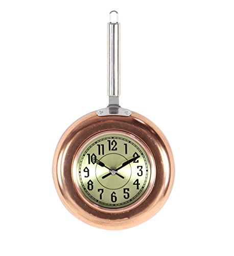 Benzara Metal Copper Wall Clock, Small