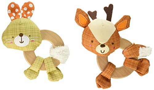 Bright Starts Simply Bright Starts Clutch & Hold Wood Toy-Characters May Vary, Each Sold Separately (Toy Clutch)