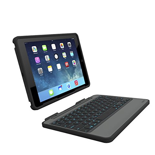 ZAGG Rugged Book Durable Case, Hinged with Detachable Backlit Keyboard for iPad Air - Black by ZAGG (Image #8)
