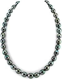 "14K Gold 8-10mm Tahitian South Sea Baroque Cultured Pearl Necklace - AAA Quality, 20"" Length"