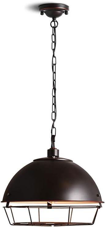 Lámpara de Techo Luz Colgante Viento industrial malla de hierro ...