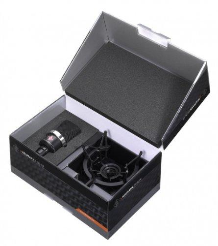 (Neumann TLM 102 Black Cardioid Condenser Microphone Studio Set w/ Shock Mount MT)
