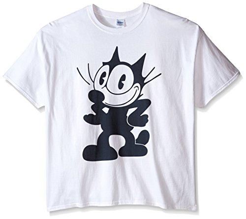 Felix the Cat Men's Big-Tall Pose T-Shirt, White, XX-Large