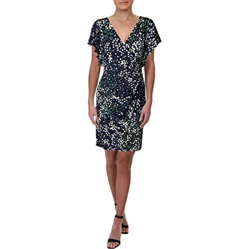 LAUREN RALPH LAUREN Womens Kahlo Hermatite Jersey Cocktail Dress Black 12