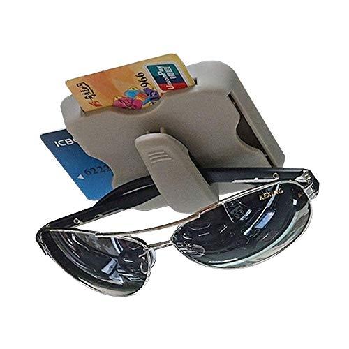 Aolvo Multi-Function Car Sun Visor Card Holder Card Inserter,Sunglass Visor Clip, Card Clip,Dual Use Clamp for Expressway IC Pass Card and Bank Card (Double Cd Visor)