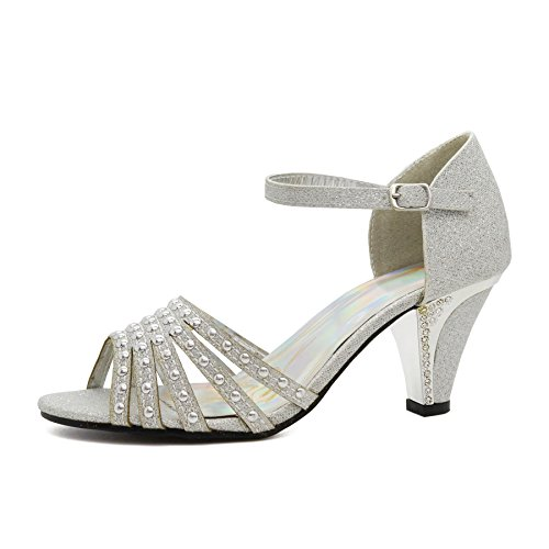London Footwear - Mary Jane mujer plata