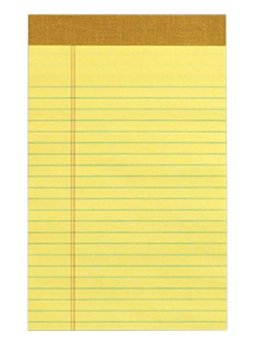 Tops Perforated Junior Pad, Canary Yellow, 24 - Pads Tops Writing