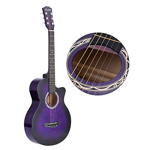 Andoer 38'' Acoustic Folk 6-String Guitar for Beginners Students Gift by ammoon