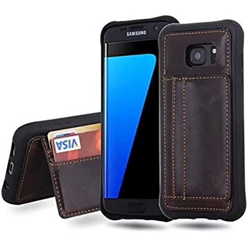 S7 Edge Case,E-fashion Design [Card Slot][Drop Protection][Heavy Duty][Money Clip] Credit Card Case ,Business Style PU Leather Back Cover For Samsung Galaxy Sales