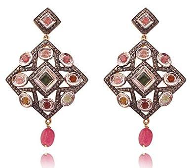 e1185d994f9a2 Buy Attractive Emerald, Ruby, Diamond Polki Gemstone 18k Gold and ...
