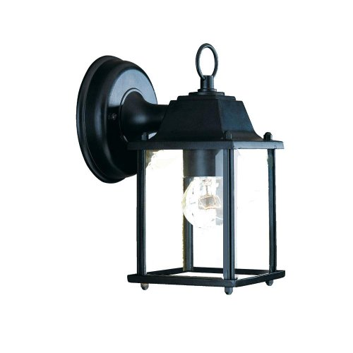 Black Outdoor Fixture - Acclaim 5001BK Builder's Choice Collection 1-Light Wall Mount Outdoor Light Fixture, Matte Black