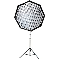 Neewer 30x30 / 80cmX80cm Grid Octagon Umbrella Speedlite Softbox with Bowens Mount Speedring for Nikon, Canon, Sony, Pentax, Olympus, Panasonic Lumix, Neewer Speedring Flash and Other Small Strobe Flashes