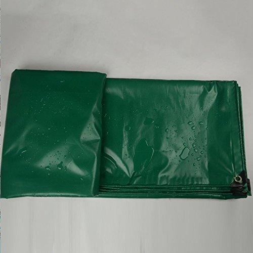 AJZGF Im Freien Abdeckungs-LKW-Regenproofschutzplanenladung schützender Hallenstoff-Zeltstoff Anti-korrodierend Anti-Altern, grün (Farbe   Grün, größe   4X6M)