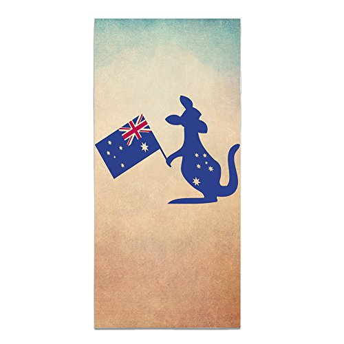HBOPERAM Australia Flag & Kangaroo With An Australia Flag In His Hand One Size Outdoor Absorbent Polyester Beach (Aussie Flag Dress)