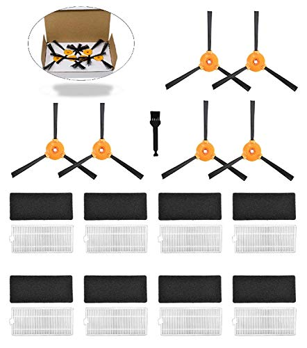 Moura Essentials Deebot N79s Replacement Parts | 8x HEPA Filter - 6x Side Brushes | Accessories For Robotic Vacuum | Protected Packaging (Parts Essential)