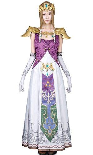 [Miccostumes Women's the Legend of Zelda Princess Zelda Cosplay Costume (S)] (Princess Zelda Cosplay Costume)