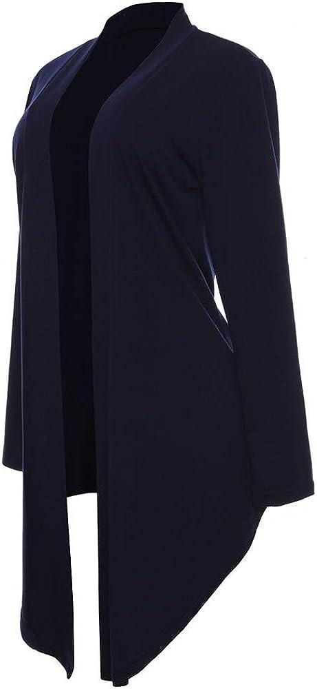 Hoodies for Women,Womens SweatersCotton Long Sleeve Cardigan Coat Tops Suit Kimono Cover Fashion Smock