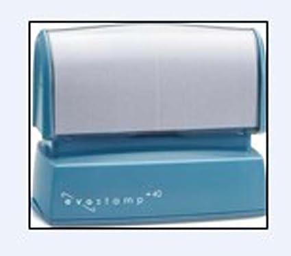 Amazon New EP 40 EVOSTAMP 5 Line Address Pre Ink Stamp