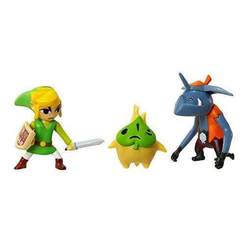 Jakks Pacific World of Nintendo, Micro Land, The Legend of Zelda: Windwaker HD, Link, Makar, and Bokoblin Figures