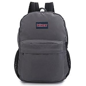 ENKNIGHT Casual School College Backpacks Laptop Bag Schoolbags Daypack Gray