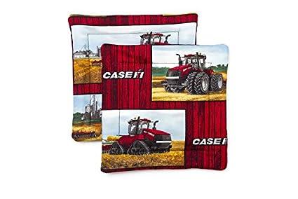Case IH Tractors And Logos Pot Holder Set Barn Wood Background