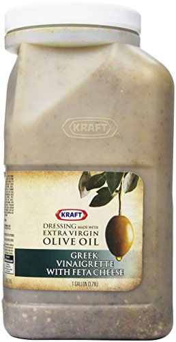 Kraft Brand Dressing Greek Vinaigrette with Feta Cheese Liquid, 128 Ounce