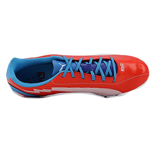 Puma Evospeed 5 AG Round Toe Synthetikschuh Orange-weiß-hawaiianischer Ozean