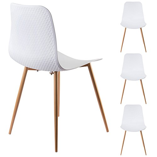 Viola Set of 4 White Dining Chairs - - Small Dining Chairs