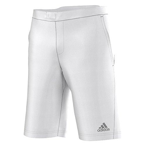 Adidas Men's Tennis Andy Murray Barricade Bermuda-White/Night Grey (X-Large-36)