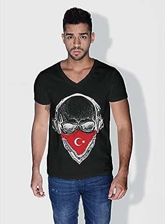 Creo Turkey Skull T-Shirts For Men - S, Black