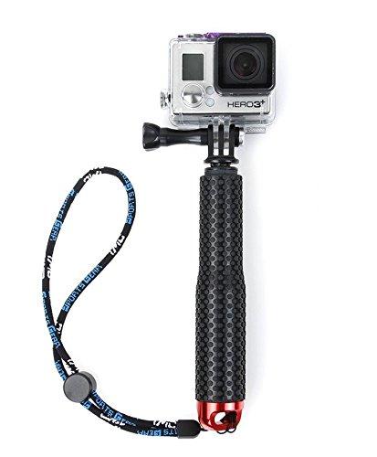 Flycoo - Asta per selfie per fotocamera d'azione GoPro Hero 5 4 3 + 2 / Sony Action Cam/Canon/Nikon/Sony/Panasonic/Olympus SJ5000 SJ4000 Xiaomi Mijia 4K ecc Monopod estensibile 19-49 cm