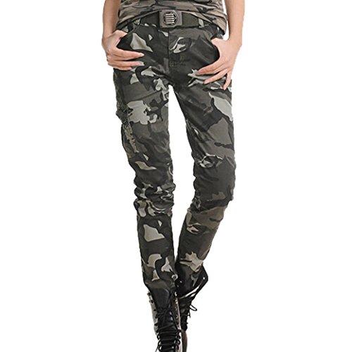 TANGDA Women Cotton Blend Camouflage Camo Printed Pants(819#) Size XXL