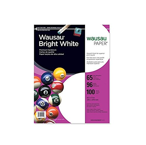 11 Inch 100 Sheets (Neenah Bright White Premium Cardstock, 96 Brightness, 65 lb., 8.5x11 inches, 100-Sheets (91901) 2-Pack)