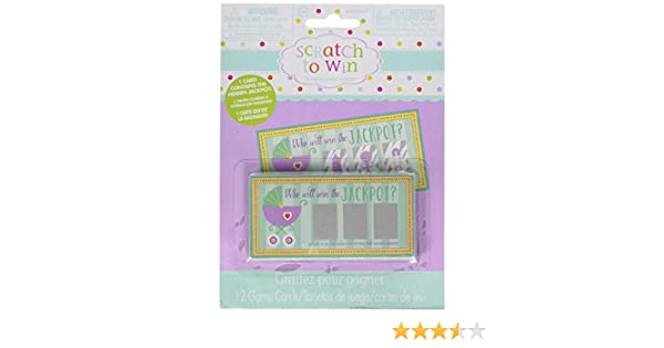 Amscan 380049 Baby Shower Scratch Off Cards, 2