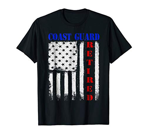 US Coast Guard Retired - American Flag -