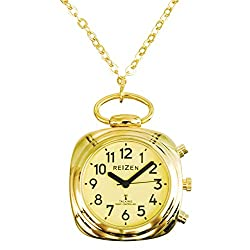 Talking Watch-Pendant-Atomic-Yellow Face-Gold-Tone