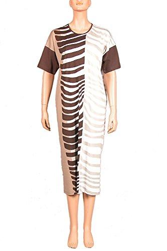 Nanso - Camisón - para mujer marrón y blanco