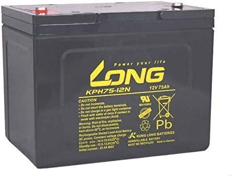Kung Long Batterie au Plomb KPH75-12N M6 12V 75Ah AGM Pile Entretien