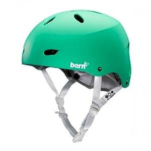 Bern Unlimited mujeres de acabado satinado Brighton EPS casco de esquí con forro blanco, verde