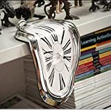 SINLOOG Melting Clock Table Melting Time Flow Desk Clock, Decorative & Funny, Salvador Dali Inspired Twisted clock clock Home Furnishing fashion creative clock The best gift for Christmas