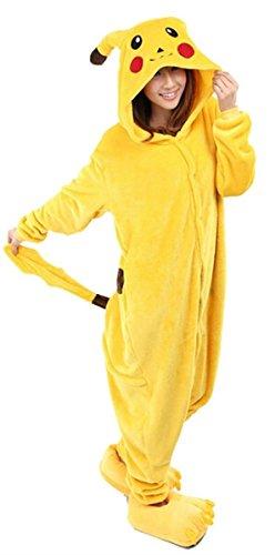 Amazon.com: WOWcucos Unisex-adult Kigurumi Onesie Pikachu Pajamas Xlarge: Clothing