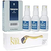 Royal NBL Derma Roller 0.5 MM with Hairgrow 5% Minoxidil 50ml 3 Month Supply