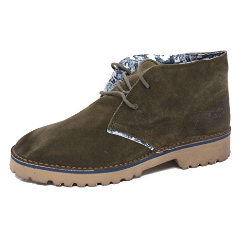B3002 polacchino uomo LECROWN DESERT BOOTS scarpa verde shoe man [40]
