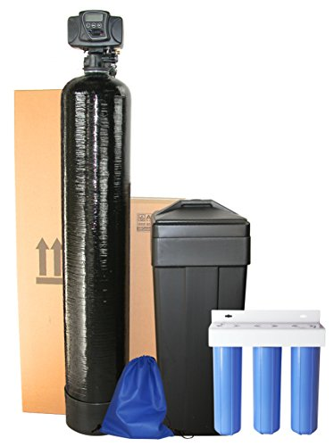 ABCwaters built Fleck 5600sxt Water Softener 48,000 with 3 Stage Big Blue Whole House Filtration (10% Cross Link Resin with 3 Stage Filter) by ABCwaters