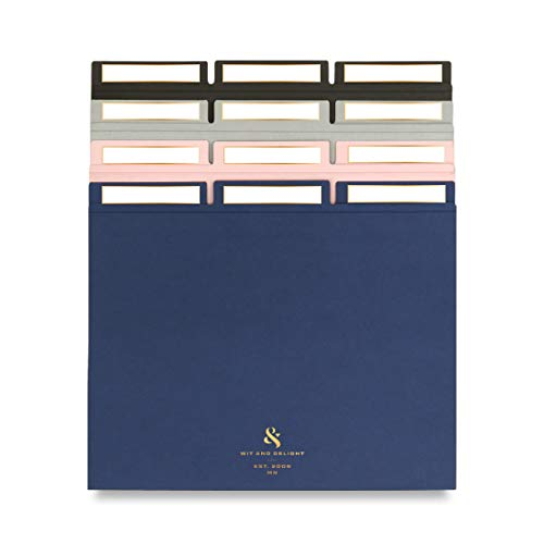 Wit & Delight - Get Organized Multicolor File Set Size 11.75 x 9.75  12 file folders  3 of each color   Blue, Pink, Grey & Black